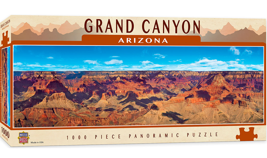 Puzzle MasterPieces Panorámico Gran Cañón Arizona de 1000 Pzs