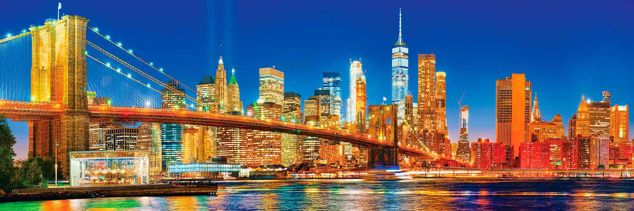 Puzzle MasterPieces Panorámico Puente de Brooklyn de 1000 Piezas