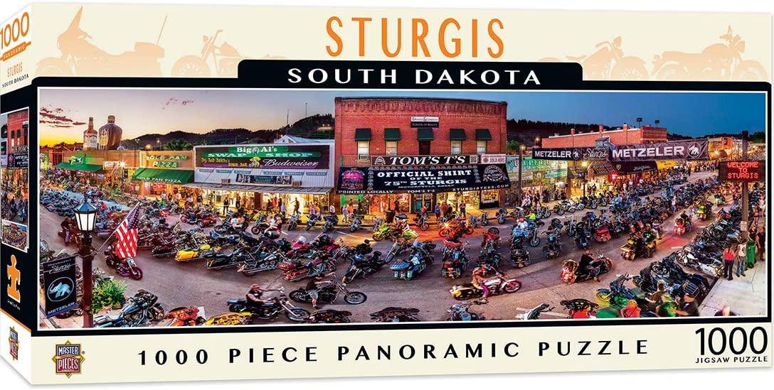 Puzzle MasterPieces Panorámico Sturgis, Dakota del Sur 1000 Piez