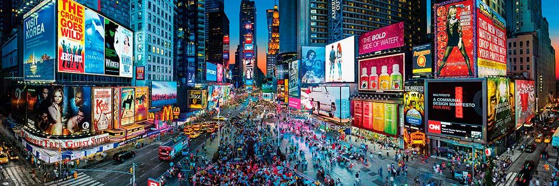 Puzzle MasterPieces Panorámico Times Square Nueva York de 1000 P