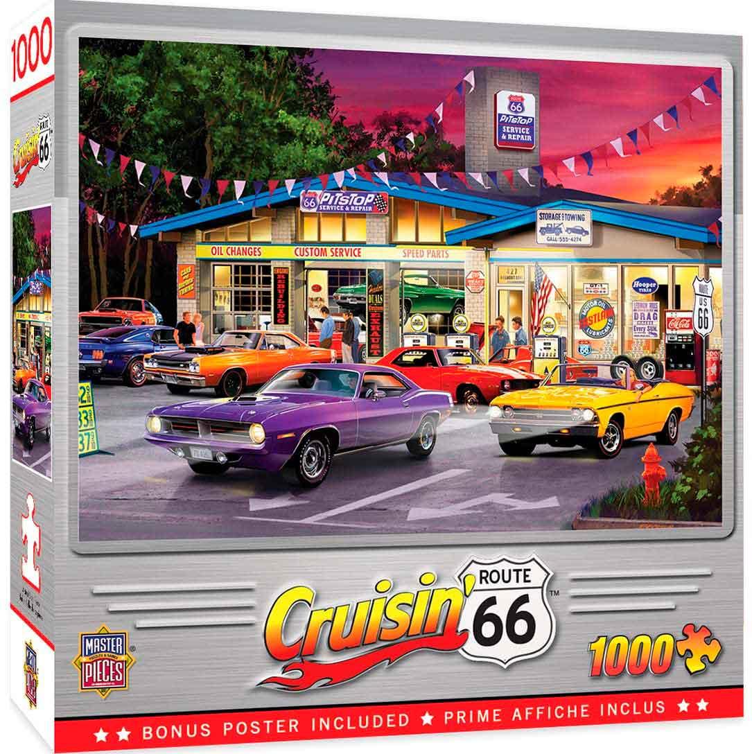 Puzzle MasterPieces Parada en la Ruta 66 de 1000 Piezas