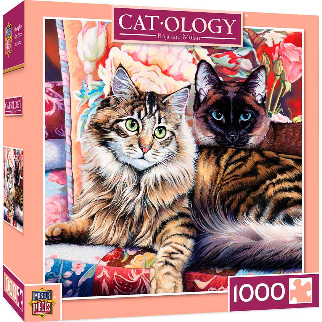 Puzzle MasterPieces Pareja de Gatos de 1000 Piezas