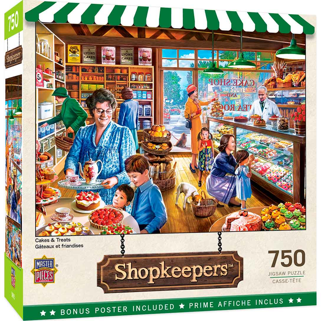 Puzzle MasterPieces Pasteles y Golosinas de 750 Piezas