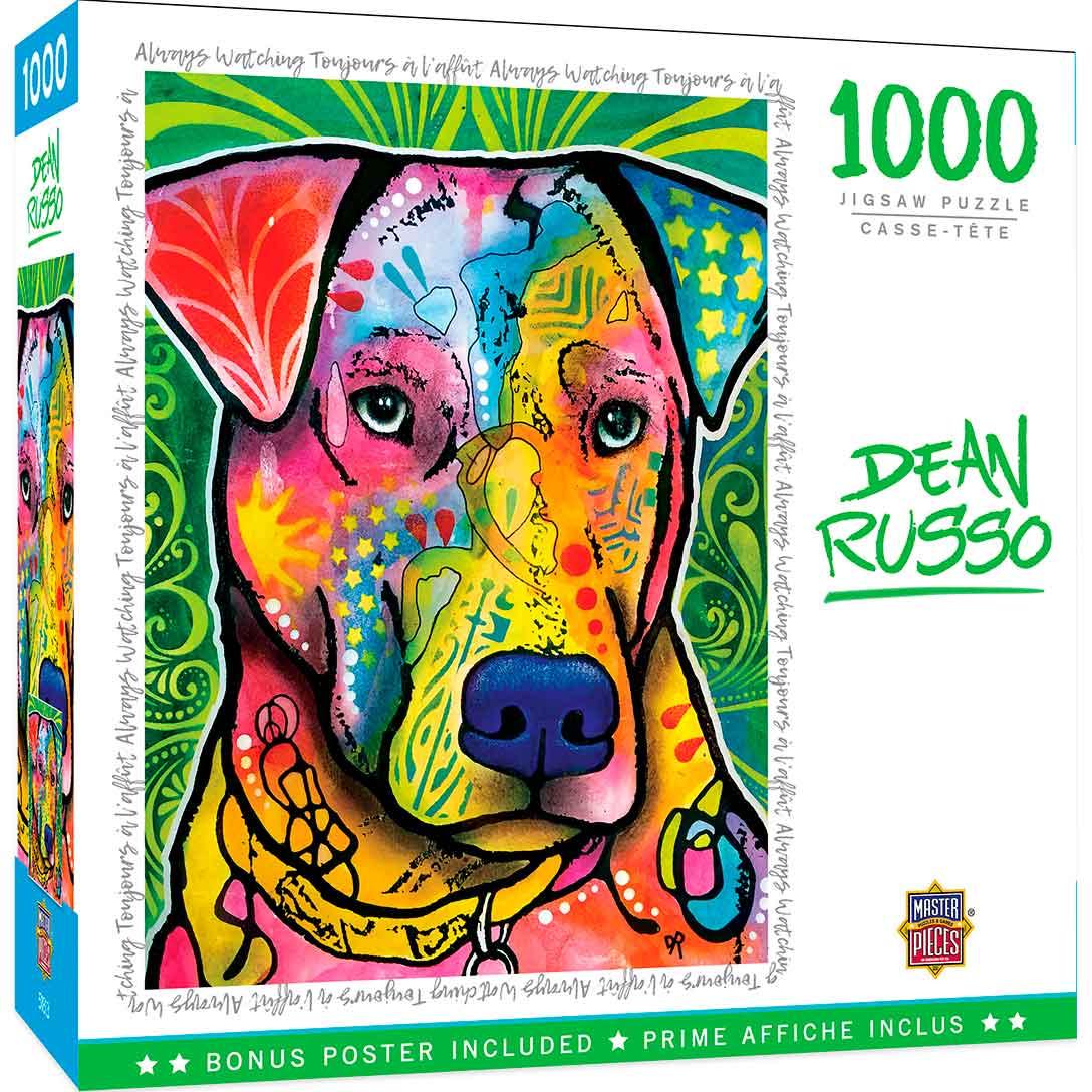 Puzzle MasterPieces Perros, Siempre Observando de 1000 Piezas