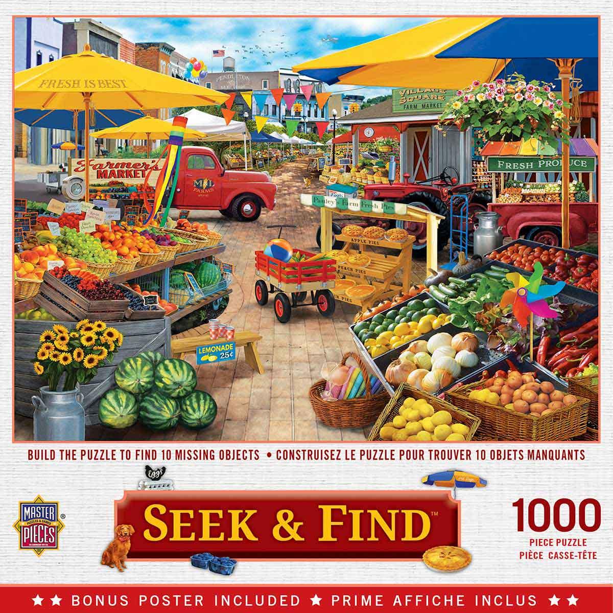 Puzzle MasterPieces Plaza del Mercado de 1000 Piezas
