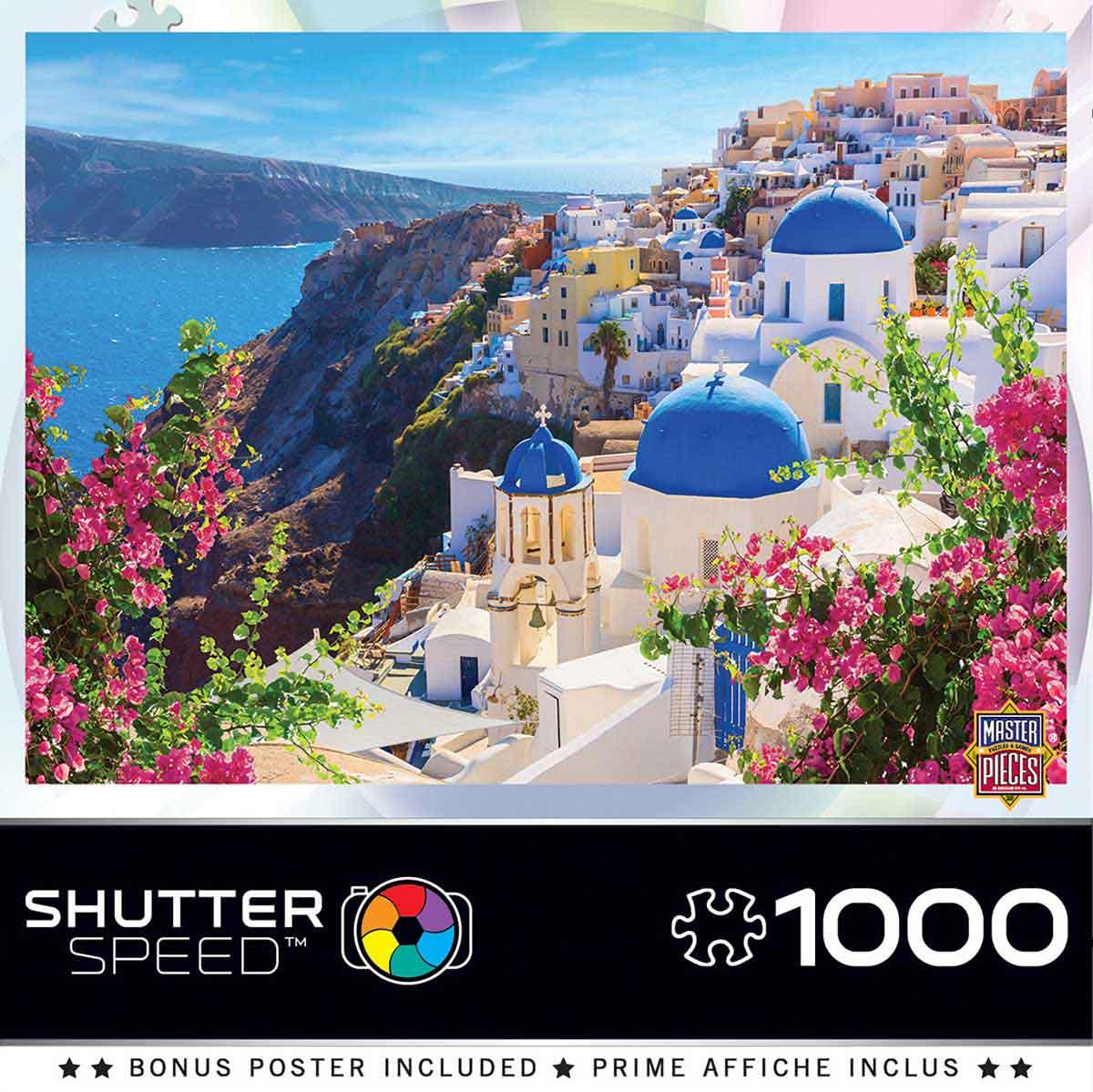 Puzzle MasterPieces Primavera en Santorini de 1000 Piezas
