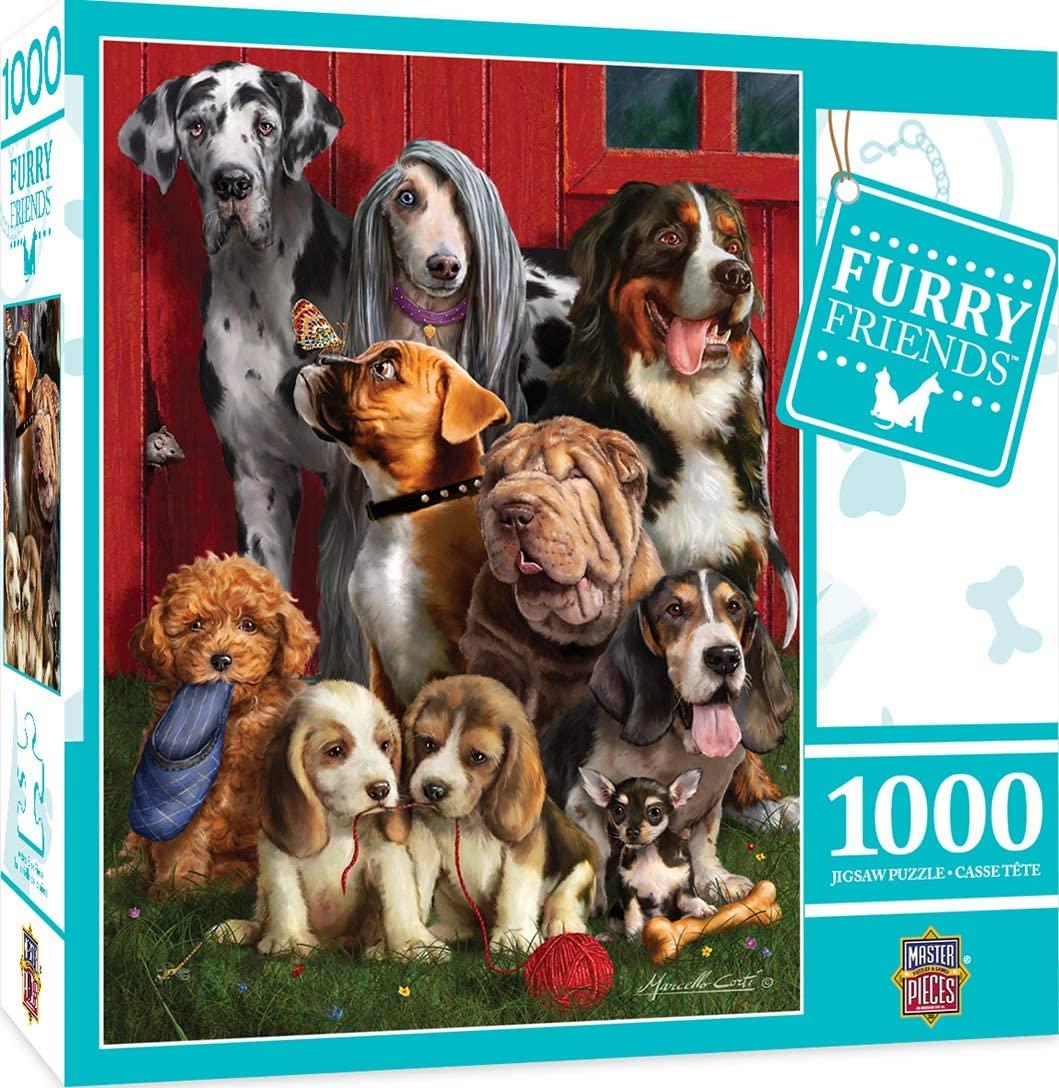 Puzzle MasterPieces Amigos Peludos Sentados de 1000 Piezas