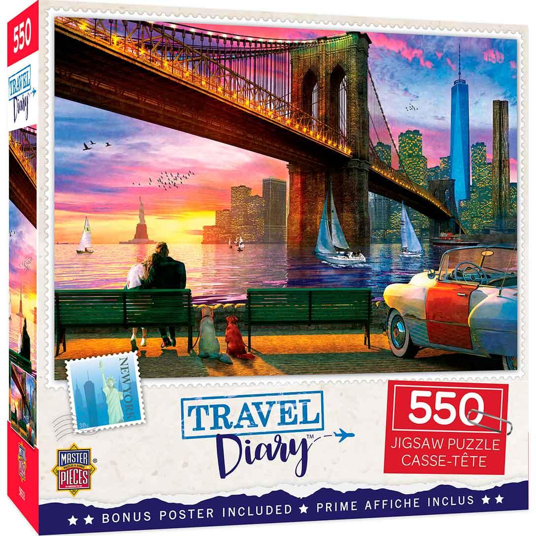 Puzzle MasterPieces Romance en Nueva York de 550 Piezas