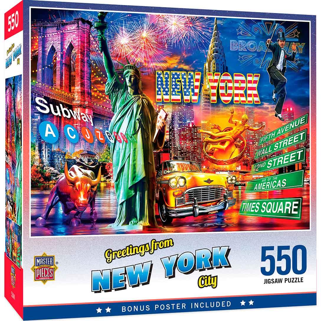 Puzzle MasterPieces Saludos Desde Nueva York de 550 Piezas
