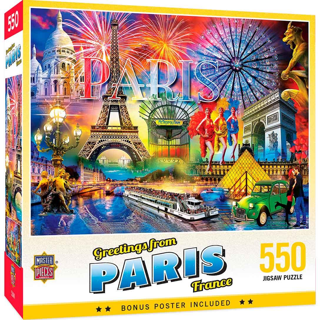 Puzzle MasterPieces Saludos Desde París de 550 Piezas
