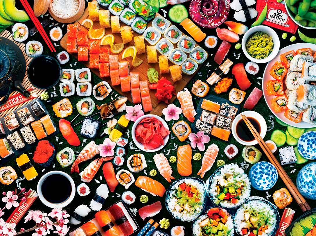 Puzzle MasterPieces Sorpresa de Sushi XXL de 300 Piezas