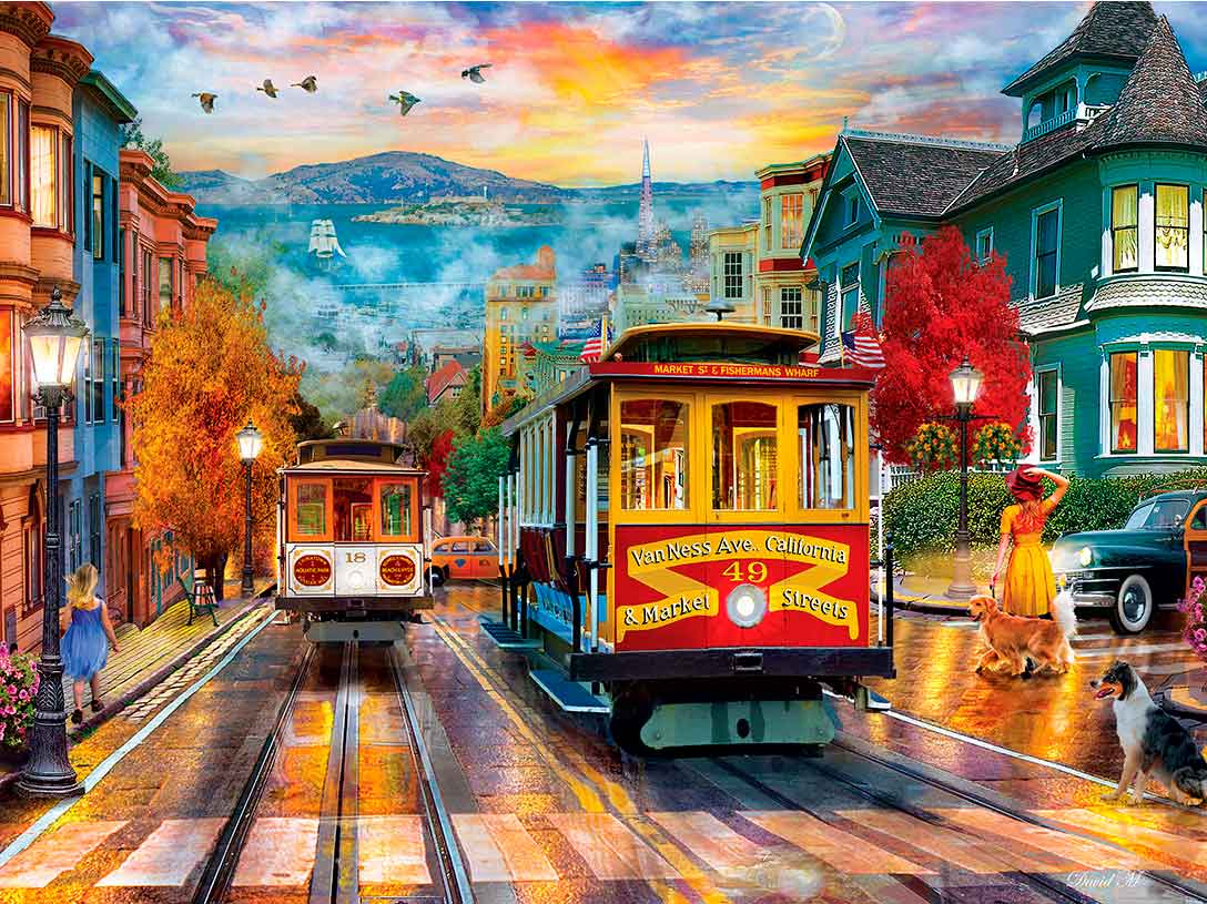 Puzzle MasterPieces Subiendo a San Francisco de 550 Piezas