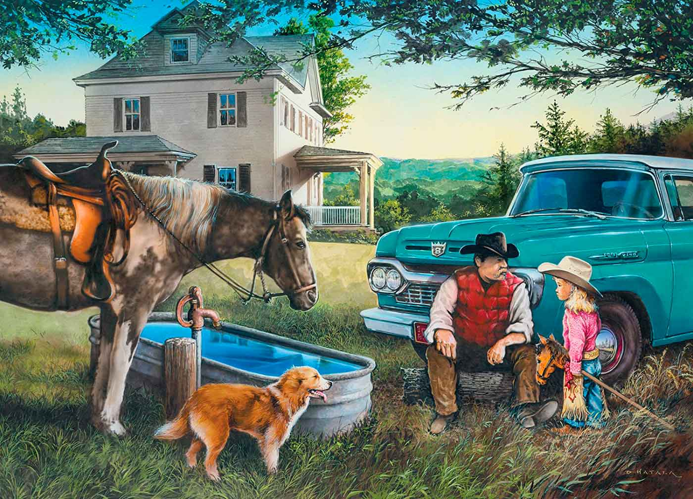 Puzzle MasterPieces Sueños de Cowboy de 1000 Piezas