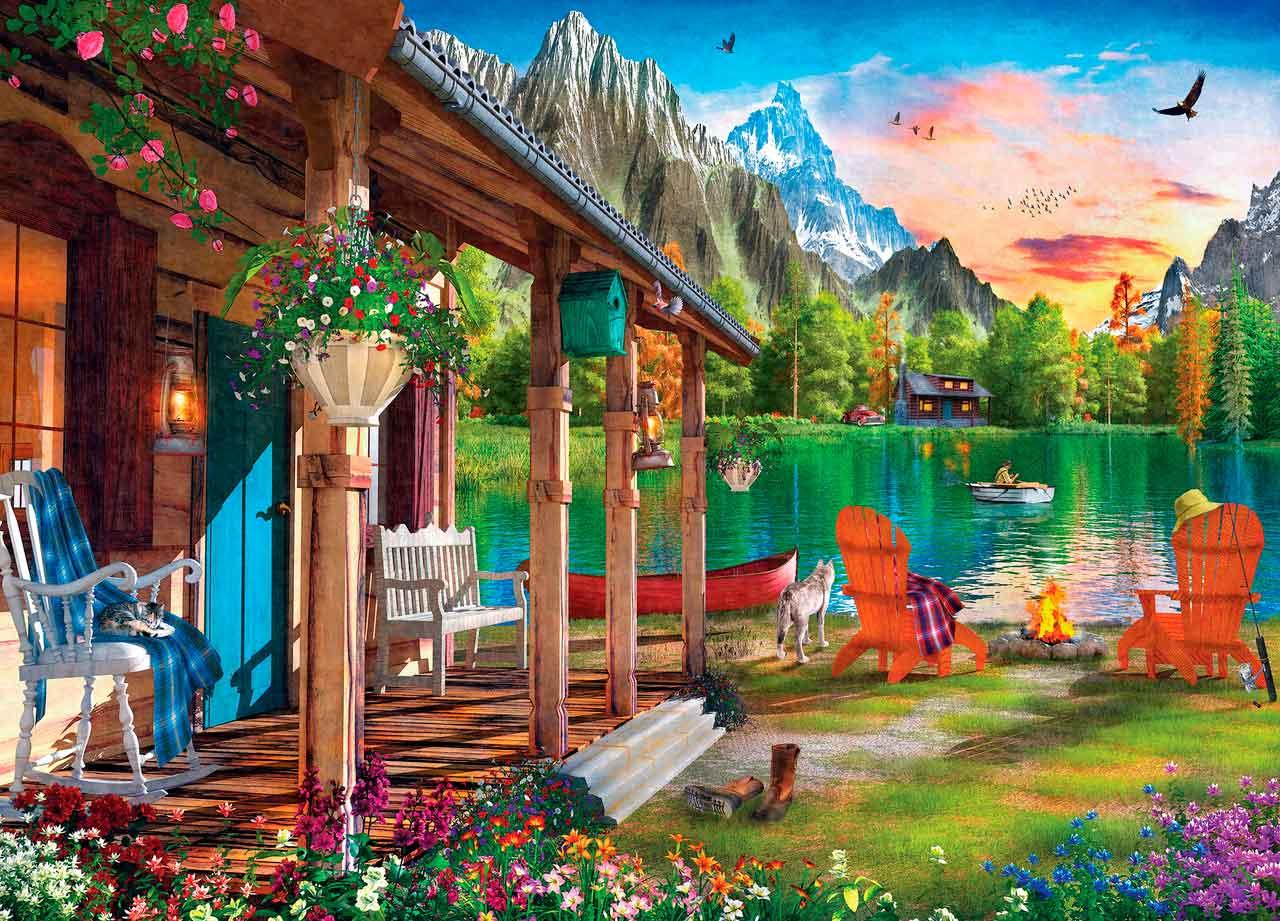 Puzzle MasterPieces Tarde en el lago de 1000 Piezas
