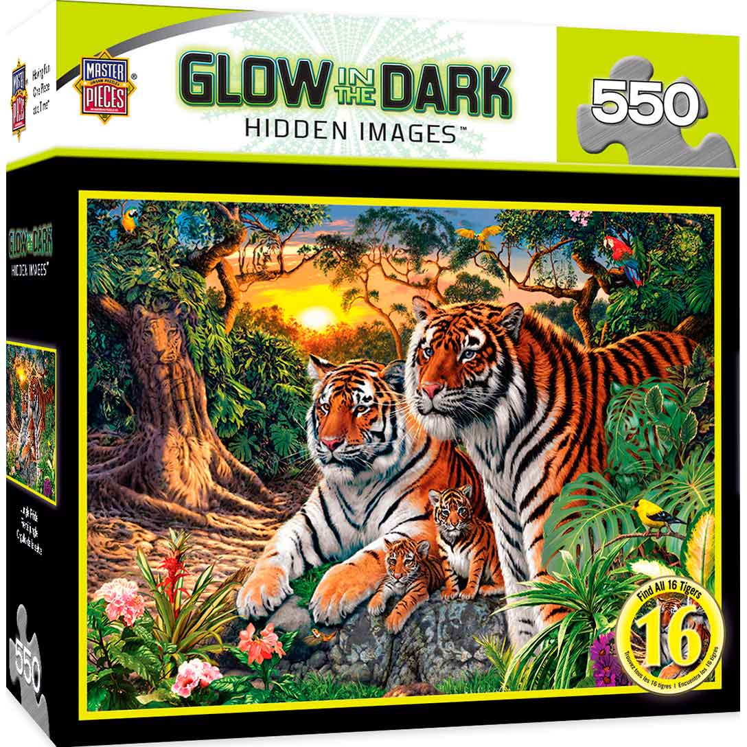 Puzzle MasterPieces Tigres en la Jungla de 550 Piezas