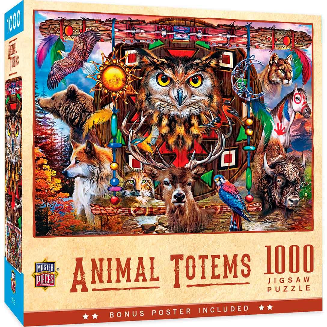 Puzzle MasterPieces Totems de Animales de 1000 Piezas