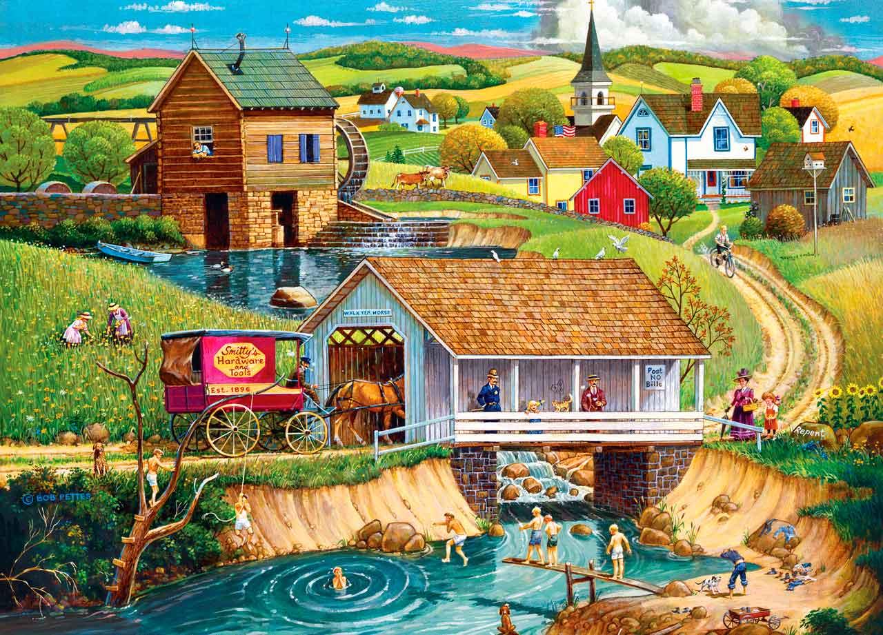 Puzzle MasterPieces Último Baño del Verano de 1000 Piezas