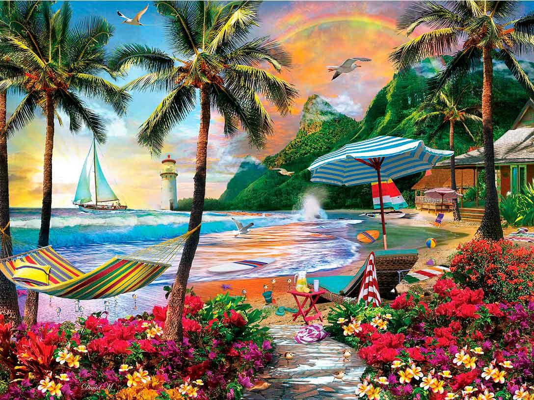 Puzzle MasterPieces Vida en Hawaii de 550 Piezas