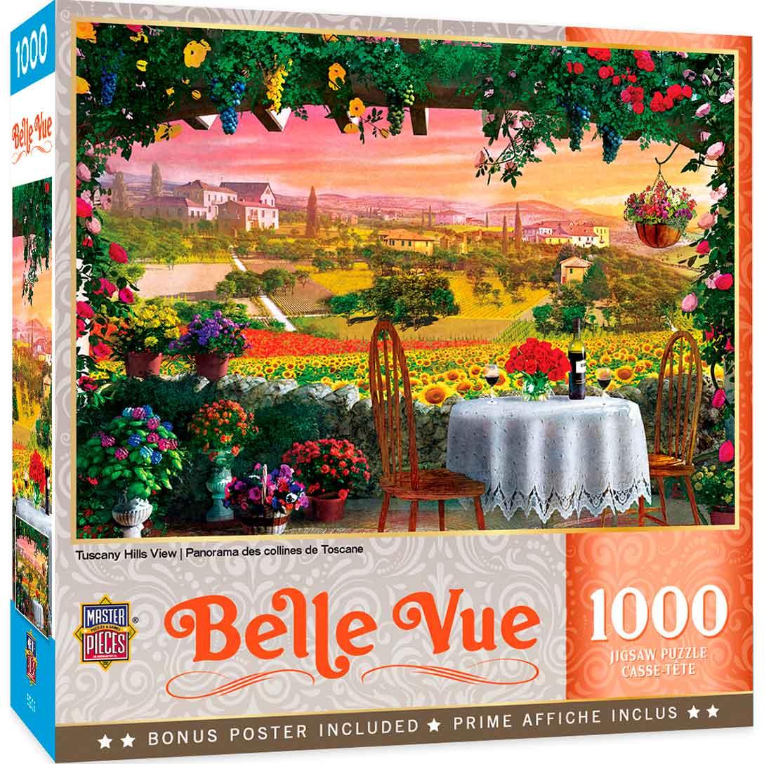 Puzzle MasterPieces Vista de Colinas Toscanas de 1000 Piezas