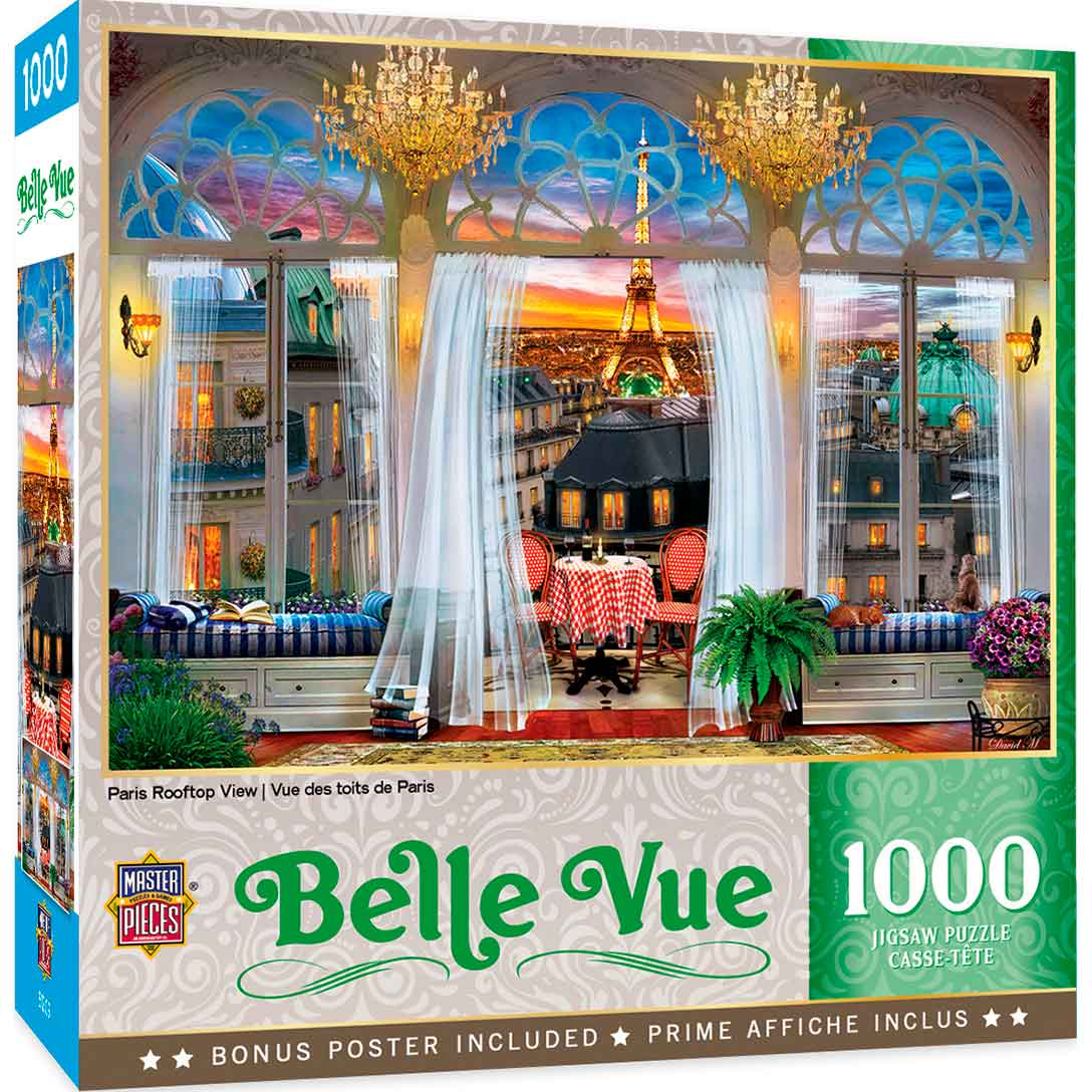 Puzzle MasterPieces Vista de París de 1000 Piezas