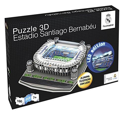 Comprar puzzle nanostad 3d santiago bernab u real madrid cf iluminaci n led 34101 - La casa del puzzle madrid ...