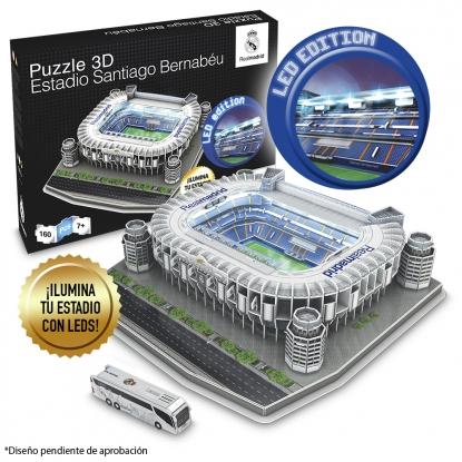 Puzzle Nanostad 3D Santiago Bernabéu Real Madrid Iluminación Led