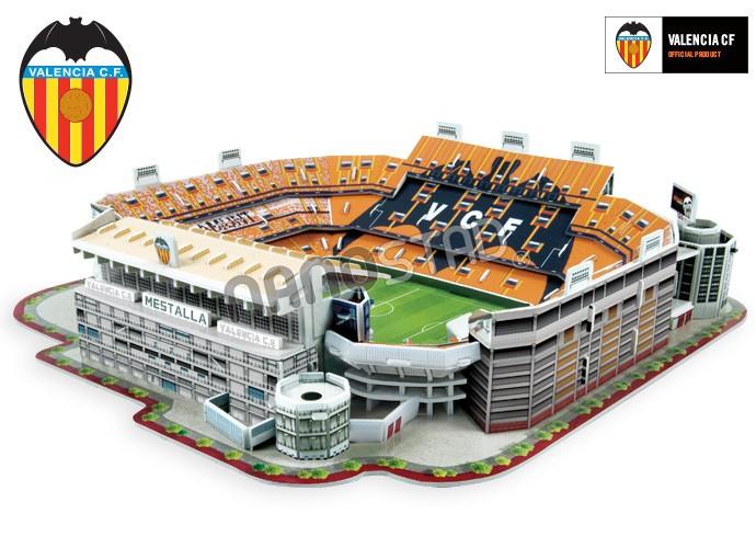 Puzzle Nanostad Estadio Mestalla, Valencia CF 3D 120 Piezas
