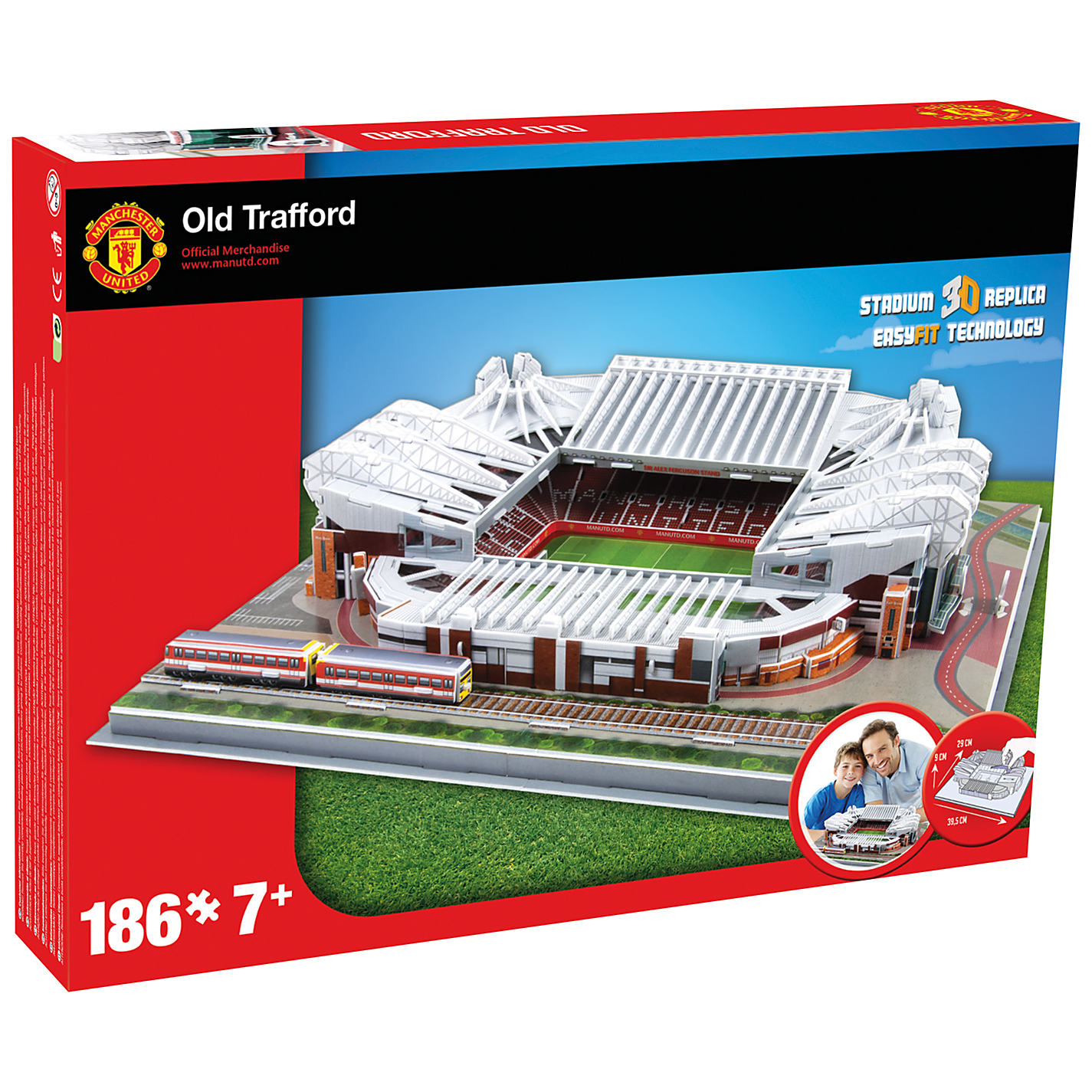 Puzzle Nanostad Estadio Old Trafford, Manchester 3D 186 Piezas