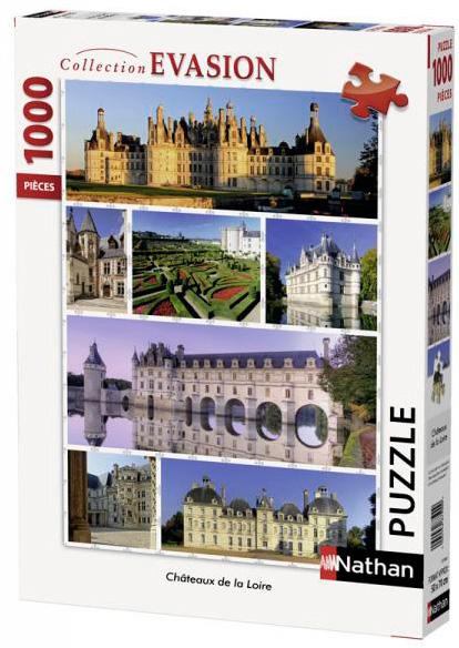 Puzzle Nathan Castillos del Valle del Loira de 1000 Piezas