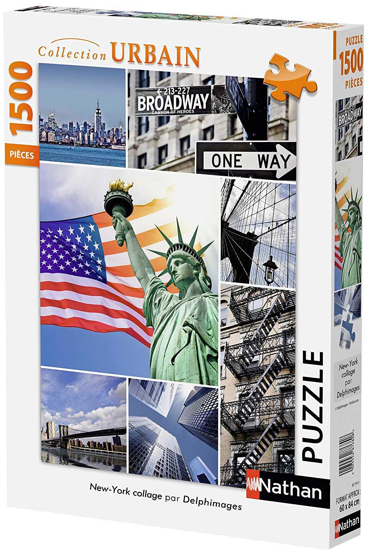 Puzzle Nathan Collage de Nueva York de 1500 Piezas