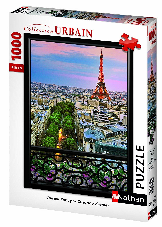 Puzzle Nathan Vista Sur de París de 1000 Piezas