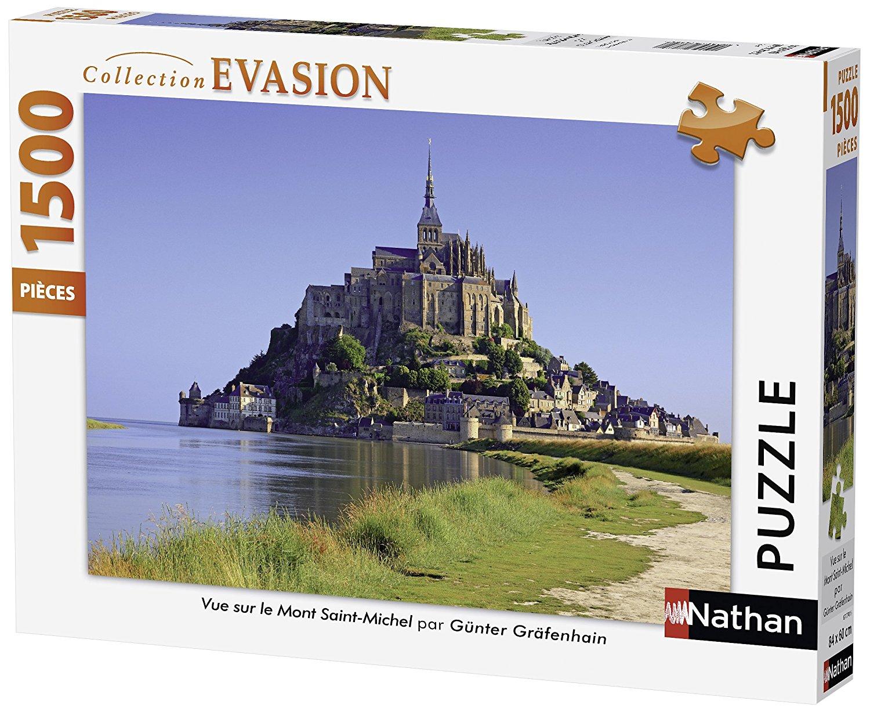 Puzzle Nathan Vista Sur del Mont Saint Michel de 1500 Piezas