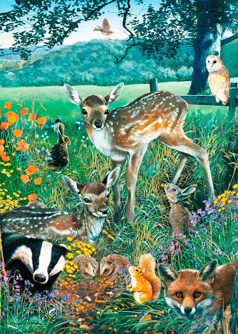 Puzzle Otter House Amigos del Bosque de 1000 Piezas
