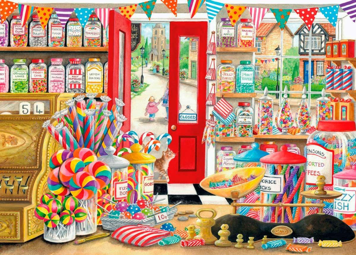 Puzzle Otter House Antigua Tienda de Golosinas de 1000 Piezas