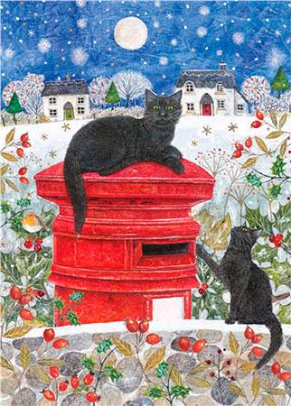 Puzzle Otter House Buzón en Navidad de 1000 Piezas