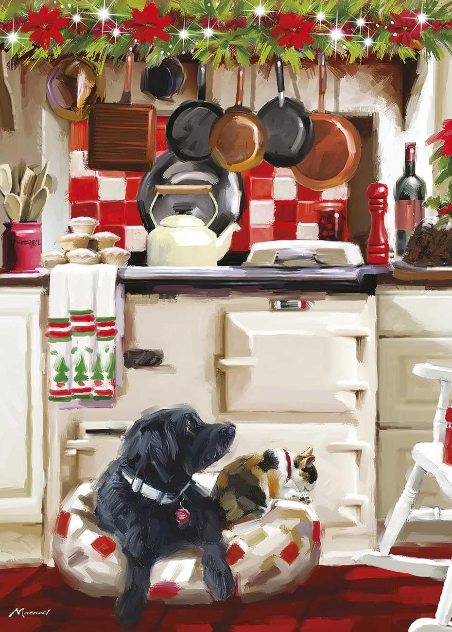 Puzzle Otter House Cocina Navideña de 1000 Piezas