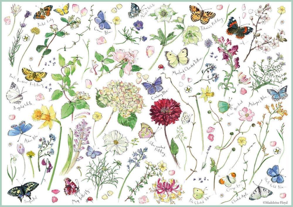 Puzzle Otter House Colección de Flores y Mariposas de 1000 Pzs