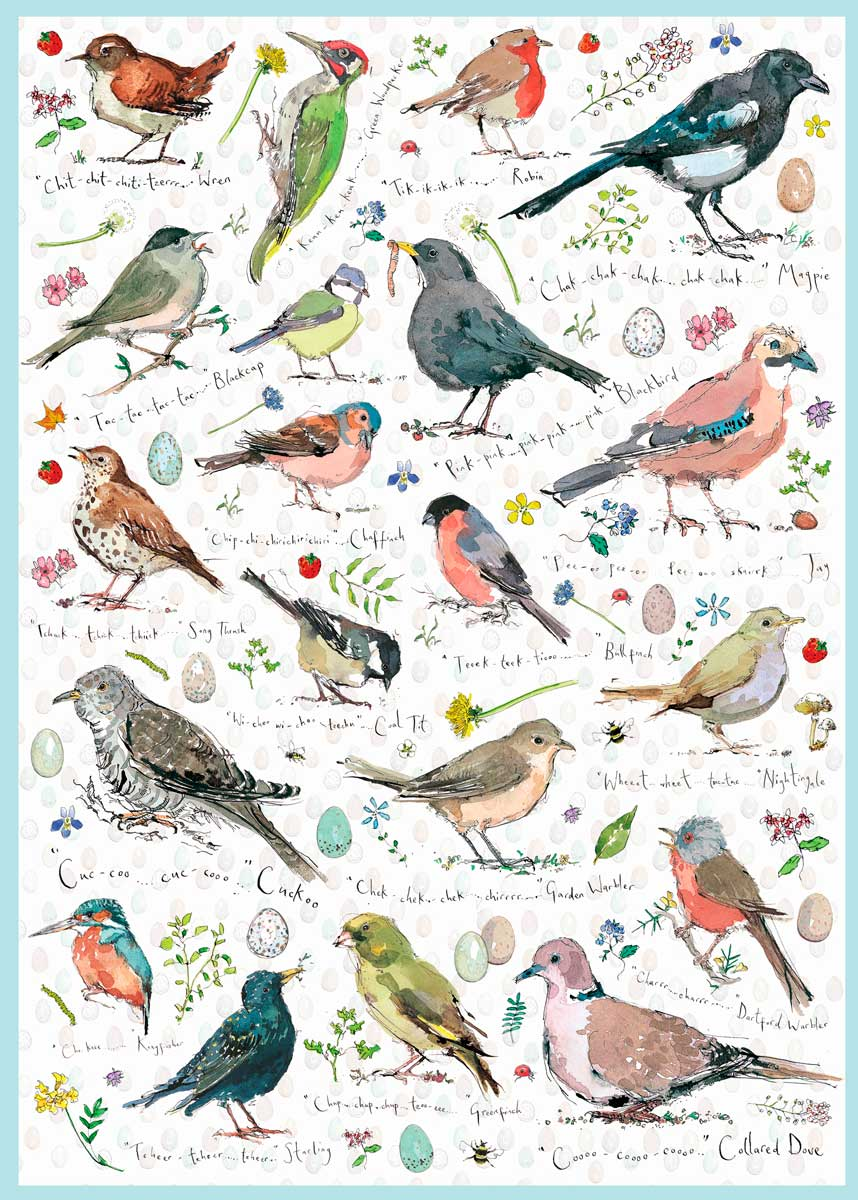 Puzzle Otter House Colección de Pájaros Silvestres de 1000 Pieza
