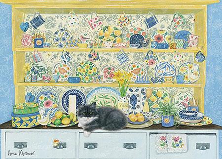 Puzzle Otter House El Aparador y El Gato de 1000 Piezas