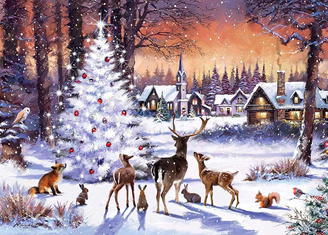 Puzzle Otter House Encuentro de Navidad de 1000 Piezas