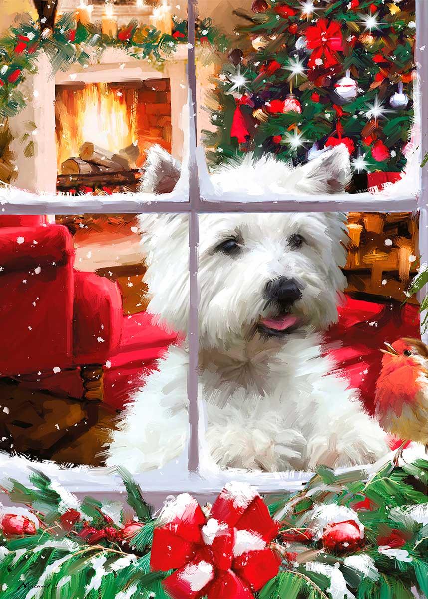 Puzzle Otter House Esperando a Papá Noel de 1000 Piezas