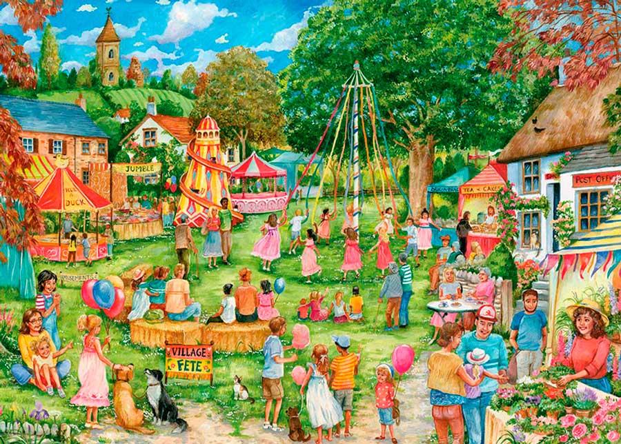 Puzzle Otter House Feria Campestre de 1000 Piezas