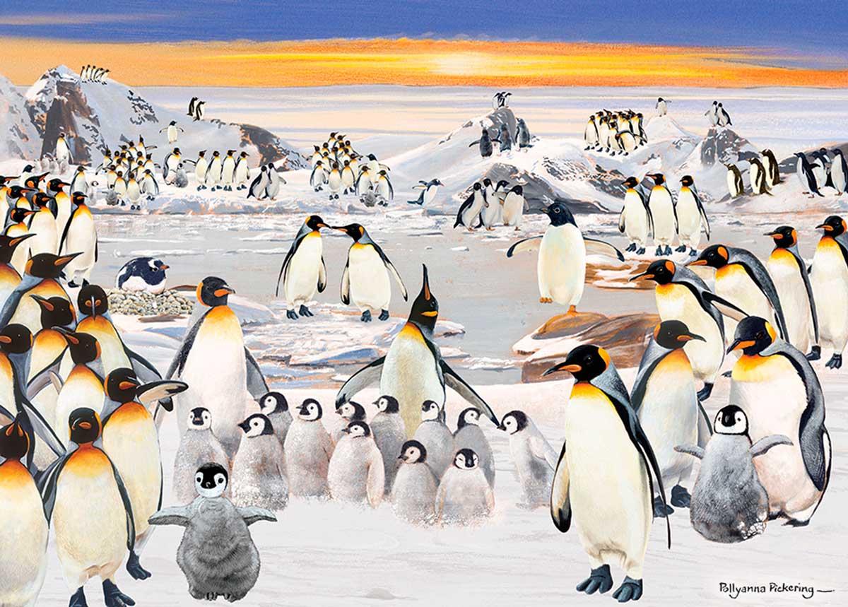 Puzzle Otter House Fiesta de Pingüinos de 1000 Piezas