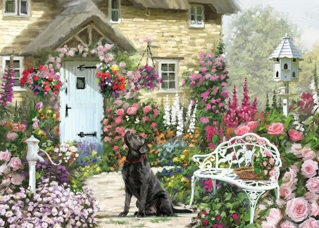Puzzle Otter House Jardín de Casa de Campo de 1000 Piezas