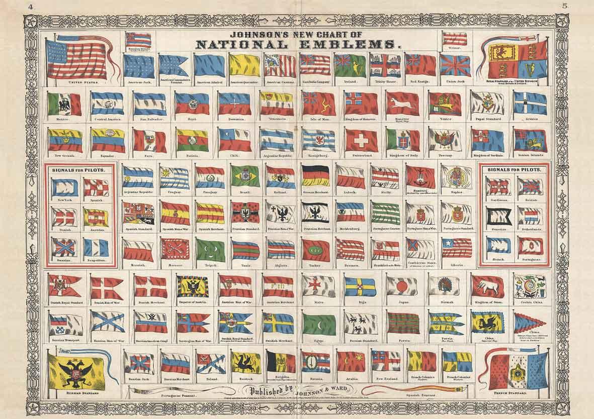 Puzzle Piatnik Banderas Nacionales de 1000 Piezas