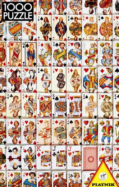 Puzzle Piatnik Baraja de Cartas de 1000 Piezas