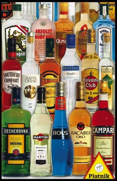 Puzzle Piatnik Bebidas del Mundo de 1000 Piezas
