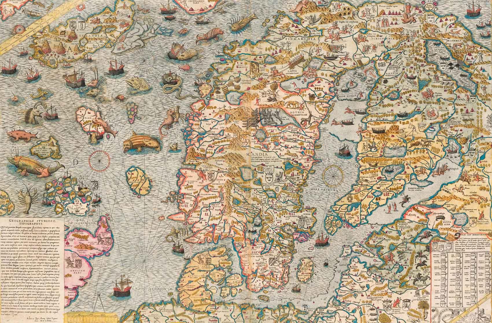 Puzzle Piatnik Carta Marina de 1572 de 1000 Piezas