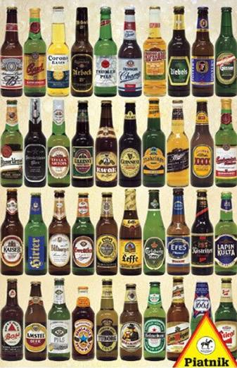Puzzle Piatnik Cervezas del Mundo de 1000 Piezas