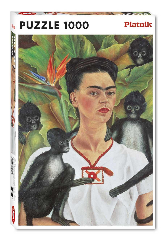 Puzzle Piatnik Frida Kahlo Autorretrato con Monos de 1000 Piezas
